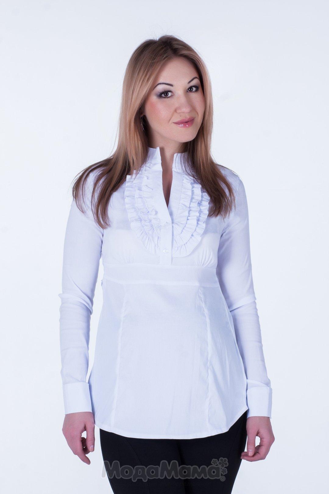 Офисная белая рубашка для беременных 31