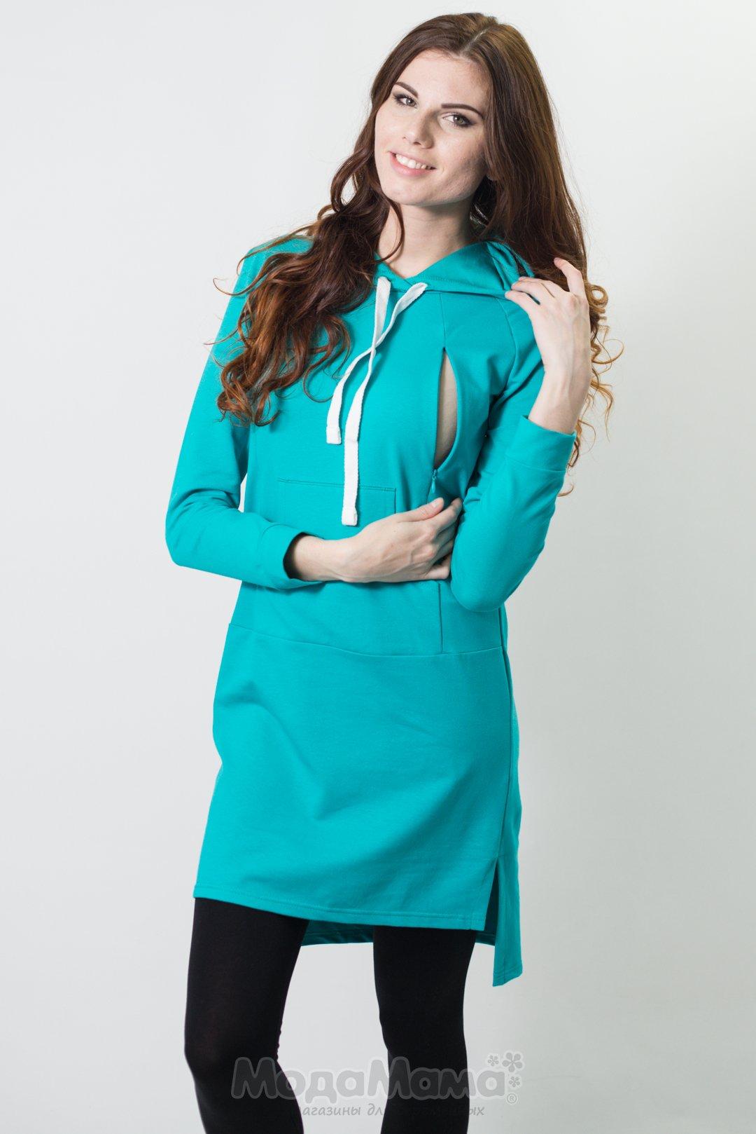 Туника мм381 Бирюза купить - Одежда для беременных МодаМама 3078a2c8d68