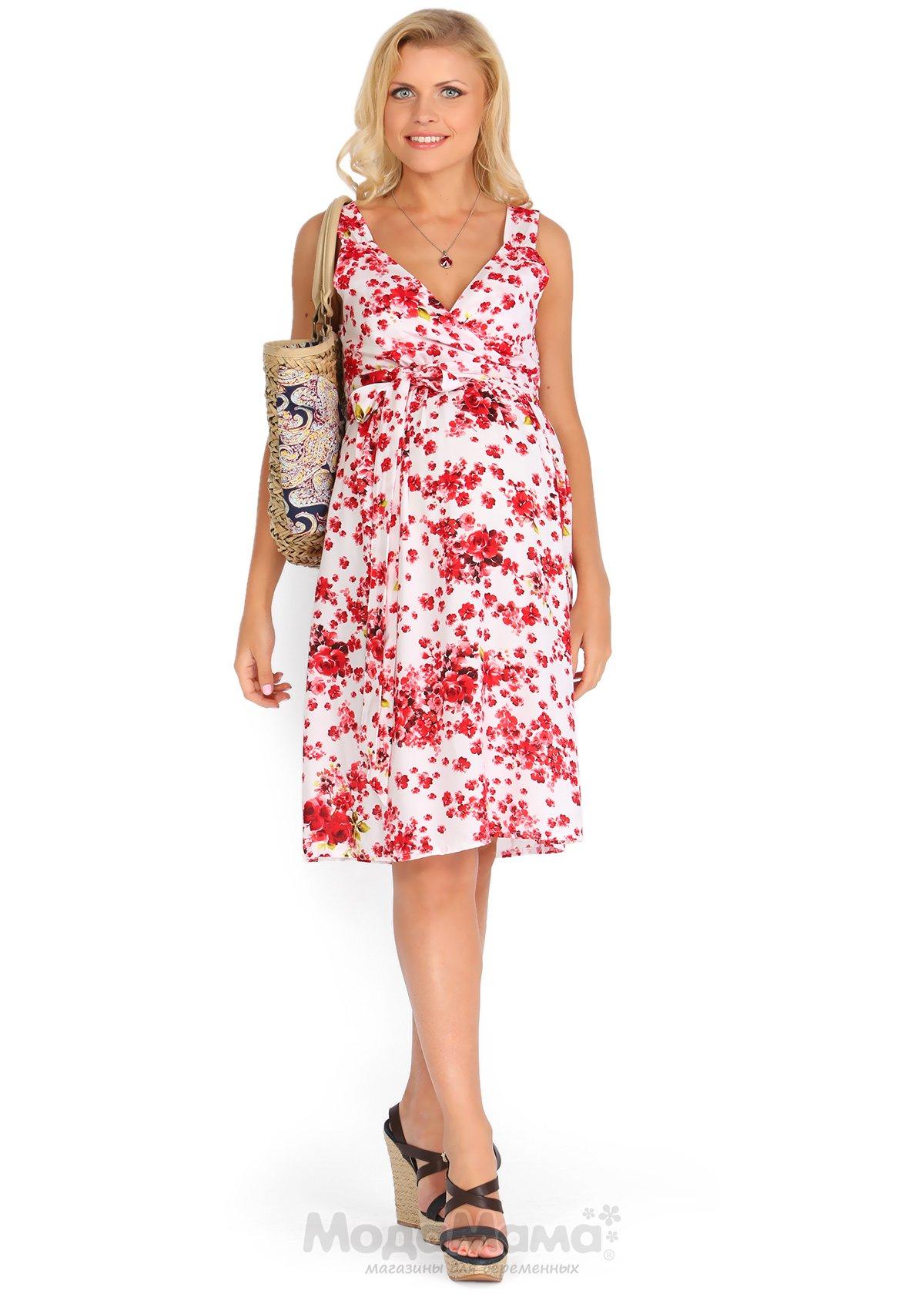 Летние платья для беременных белые